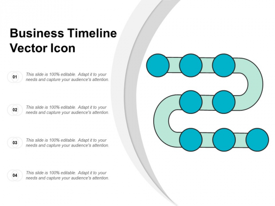 Business Timeline Vector Icon Ppt Powerpoint Presentation Outline Gridlines