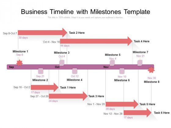 Business Timeline With Milestones Template Ppt PowerPoint Presentation Show Visual Aids PDF