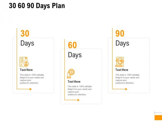 Business To Business Advertising Proposal 30 60 90 Days Plan Brochure PDF