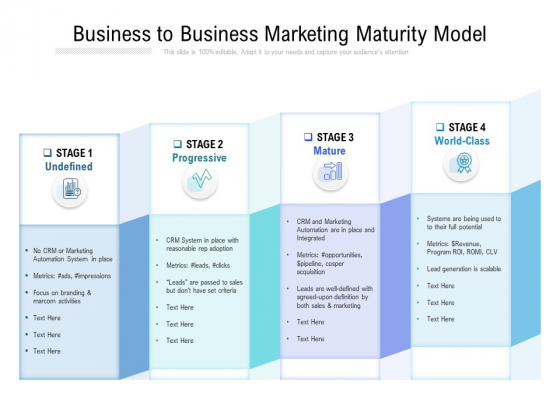 Business To Business Marketing Maturity Model Ppt PowerPoint Presentation Slides Display