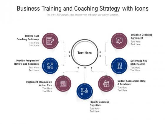 Business Training And Coaching Strategy With Icons Ppt PowerPoint Presentation File Portrait PDF