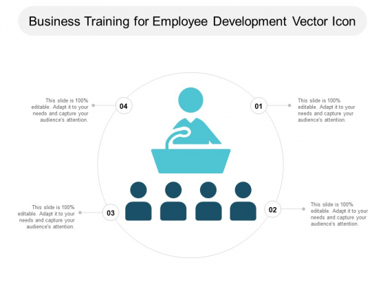 Business Training For Employee Development Vector Icon Ppt PowerPoint Presentation Portfolio Themes