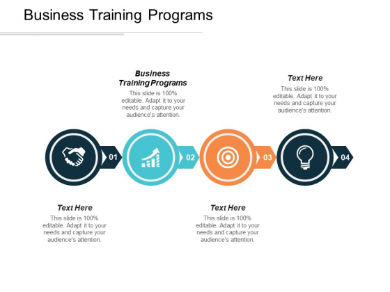Business Training Programs Ppt PowerPoint Presentation Portfolio Gridlines Cpb