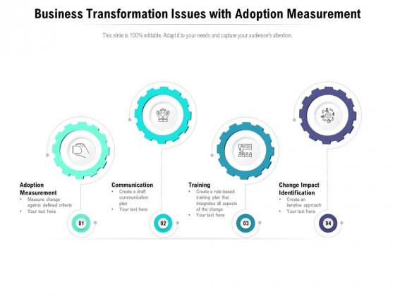 Business Transformation Issues With Adoption Measurement Ppt PowerPoint Presentation File Pictures PDF