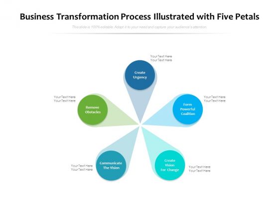 Business_Transformation_Process_Illustrated_With_Five_Petals_Ppt_PowerPoint_Presentation_Model_Guidelines_PDF_Slide_1
