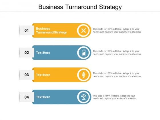 Business Turnaround Strategy Ppt PowerPoint Presentation Portfolio Ideas Cpb