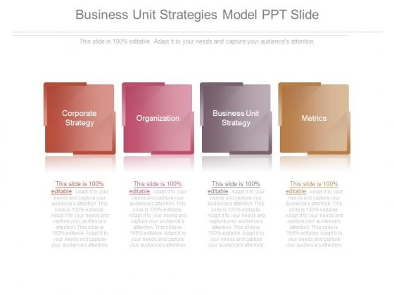 Business Unit Strategies Model Ppt Slide