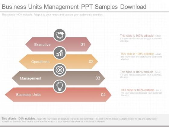 Business Units Management Ppt Samples Download