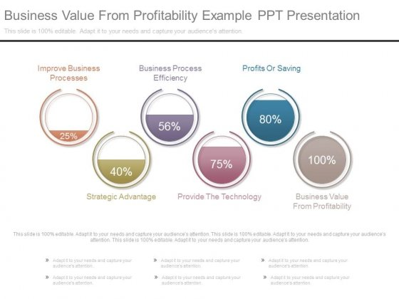 Business Value From Profitability Example Ppt Presentation