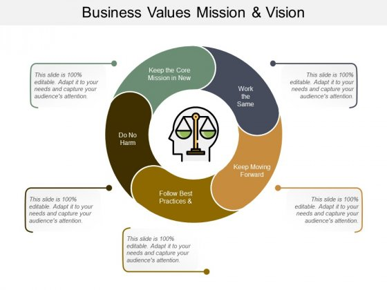 Business Values Mission And Vision Ppt PowerPoint Presentation Professional Graphics