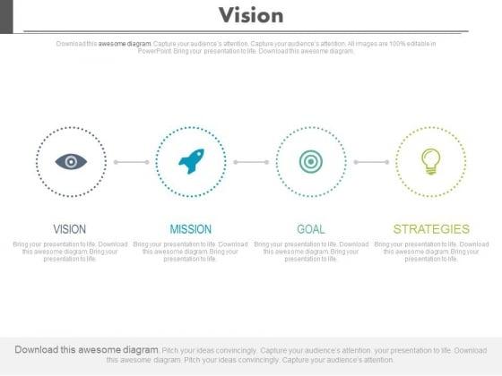 Business Vision Goal Achievement Process Powerpoint Slides