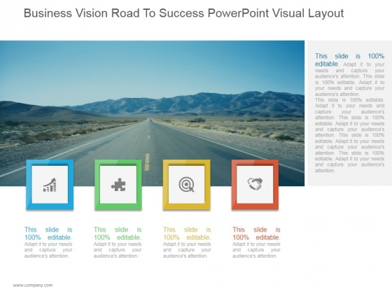 Business Vision Road To Success Ppt PowerPoint Presentation Example