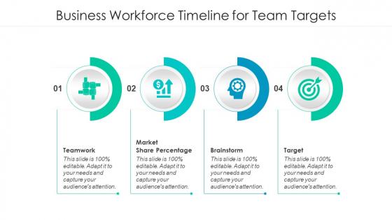 Business Workforce Timeline For Team Targets Ppt Summary Mockup PDF
