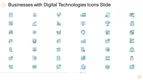 Businesses With Digital Technologies Icons Slide Microsoft PDF