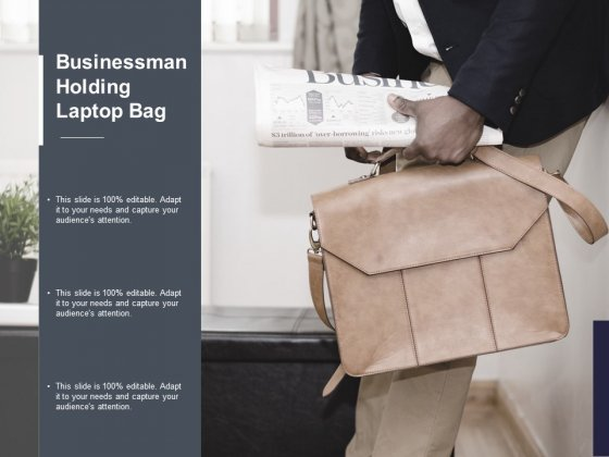 Businessman Holding Laptop Bag Ppt Powerpoint Presentation Icon Gridlines