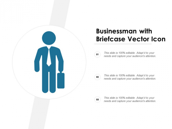 Businessman With Briefcase Vector Icon Ppt PowerPoint Presentation Ideas Graphics Download