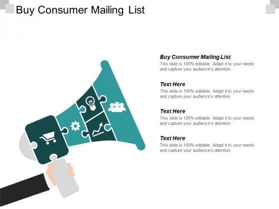 Buy Consumer Mailing List Ppt PowerPoint Presentation Icon Slide Portrait Cpb