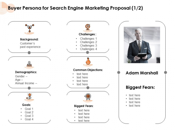 Buyer Persona For Search Engine Marketing Proposal Customers Ppt PowerPoint Presentation Styles Design Inspiration PDF
