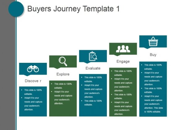 buyers journey template 1 ppt powerpoint presentation graphics, Presentation templates