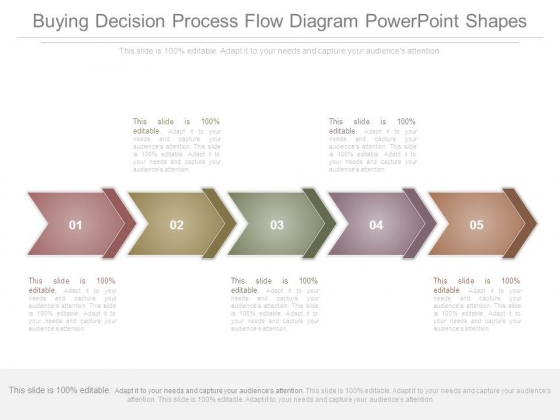 Buying Decision Process Flow Diagram Powerpoint Shapes