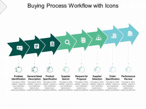 Buying Process Workflow With Icons Ppt PowerPoint Presentation Summary Themes