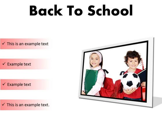 Back To School Education PowerPoint Presentation Slides F