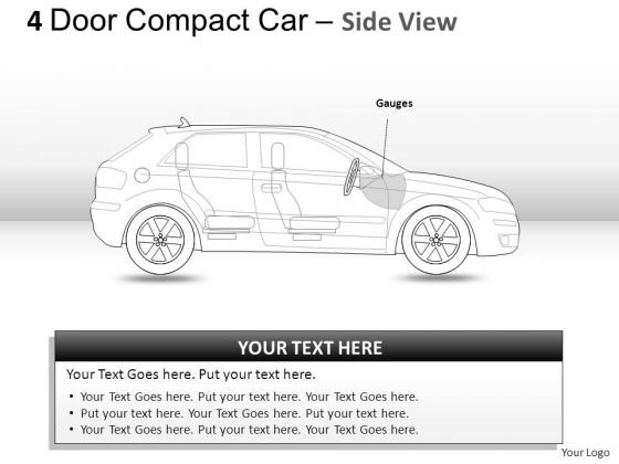 Background 4 Door Blue Car Side View PowerPoint Slides And Ppt Diagram Templates