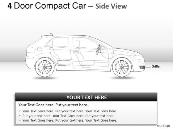 Background 4 Door Red Car Side View PowerPoint Slides And Ppt Diagram Templates