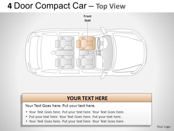 Background 4 Door Red Car Top View PowerPoint Slides And Ppt Diagram Templates