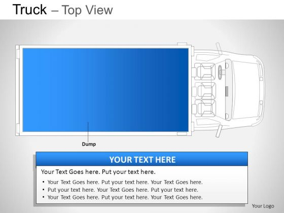 Background Blue Truck Top View PowerPoint Slides And Ppt Diagram Templates
