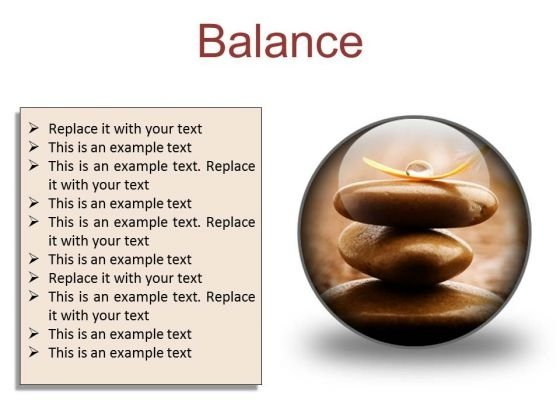 Balance Business PowerPoint Presentation Slides C