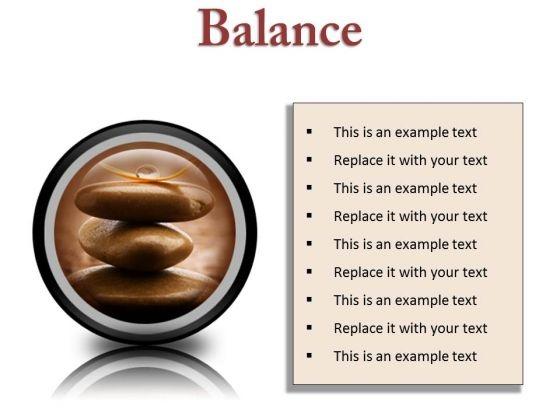Balance Business PowerPoint Presentation Slides Cc