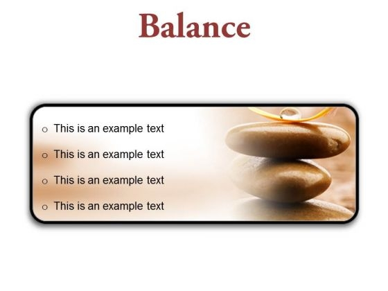 Balance Business PowerPoint Presentation Slides R
