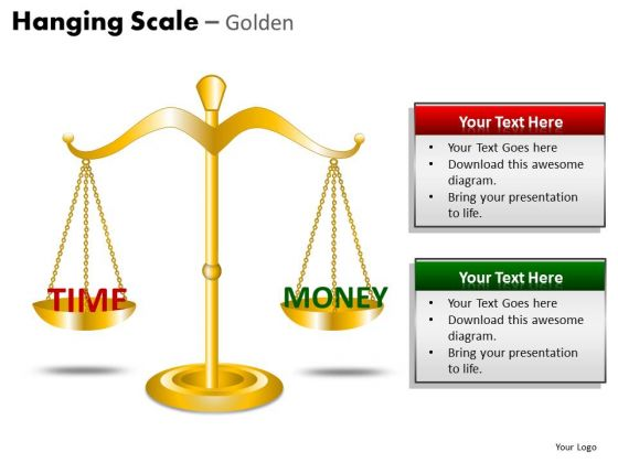 Balance Time And Money Editable PowerPoint Slides