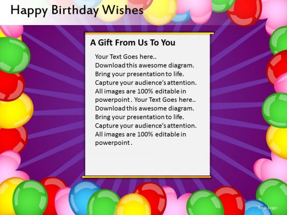 Balloons Border Birthday Fun PowerPoint Slides And Balloons Border Ppt