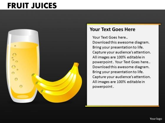 Banana Shake PowerPoint Templates And Bananas Ppt Slides