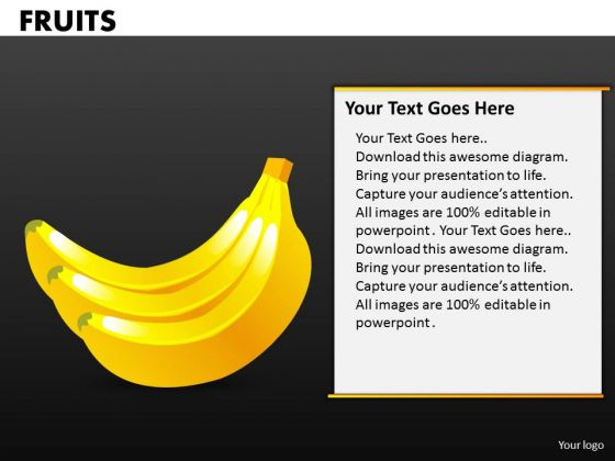 Bananas PowerPoint Templates Fruits Ppt Slides