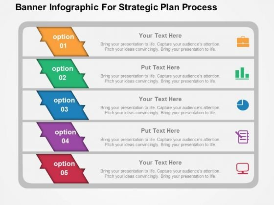 banner infographic for strategic plan process powerpoint template, Powerpoint