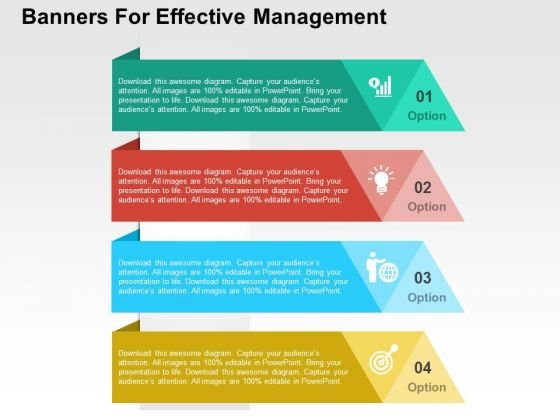 Banners For Effective Management PowerPoint Templates