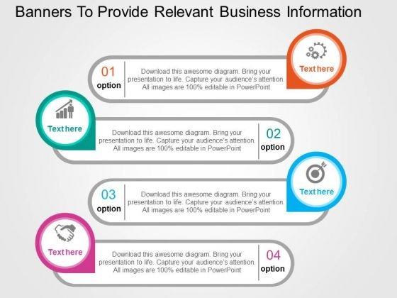 Banners To Provide Relevant Business Information PowerPoint Templates