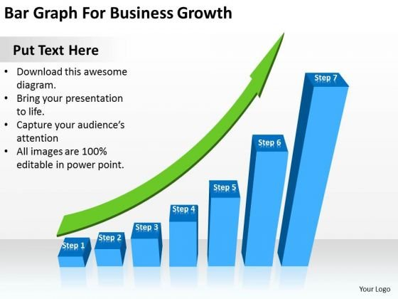 Bar Graph For Business Growth Ppt Plan PowerPoint Slides