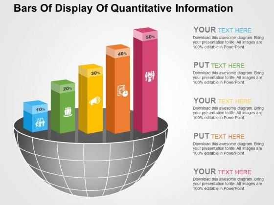 Bars Of Display Of Quantitative Information PowerPoint Templates