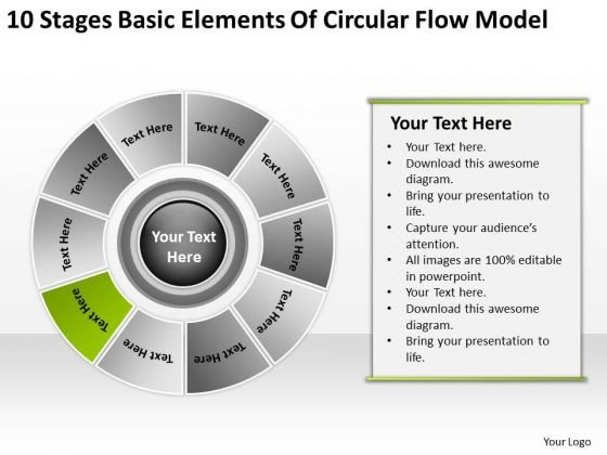 Basic Elements Of Circular Flow Model Business Plan Template PowerPoint Slides