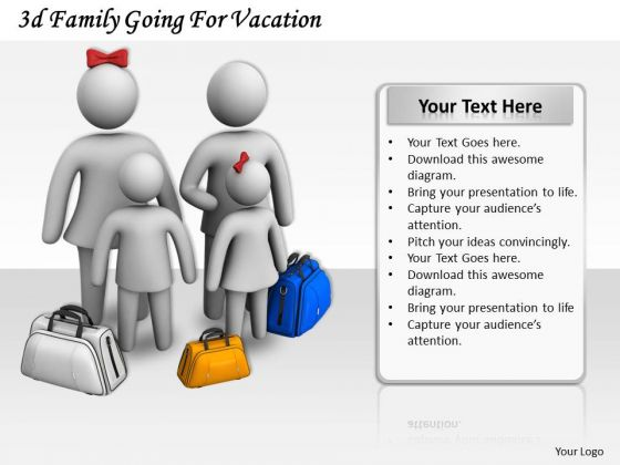 Basic Marketing Concepts 3d Family Going For Vacation Business