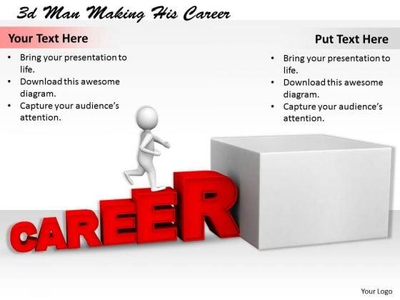 Basic Marketing Concepts 3d Man Making His Career Character Models