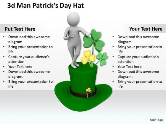 Basic Marketing Concepts 3d Man Patricks Day Hat Character
