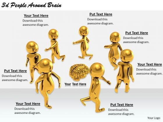 Basic Marketing Concepts 3d People Around Brain Business