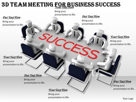 Basic Marketing Concepts 3d Team Meeting For Business Success