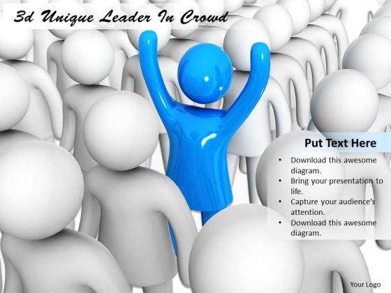 Basic Marketing Concepts 3d Unique Leader Crowd Business