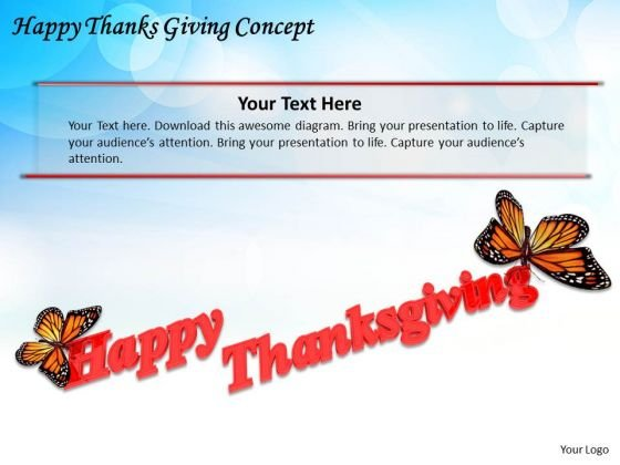 Basic Marketing Concepts Happy Thanks Giving Business